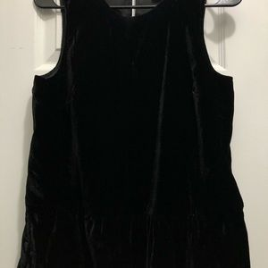J. Crew Tops - Jcrew Black peplum velvet sleeveless top size 2